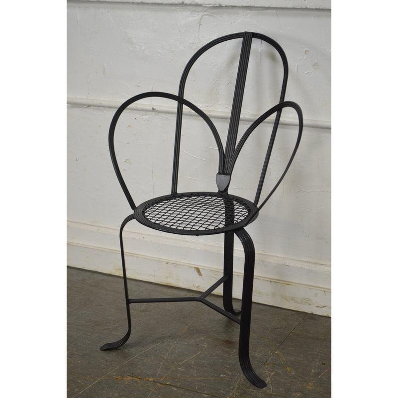 Winterthur Inspired Regency Style Iron Garden Chair