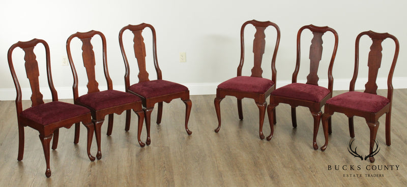 Pennsylvania House Solid Cherry Set 8 Queen Anne Dining Chairs