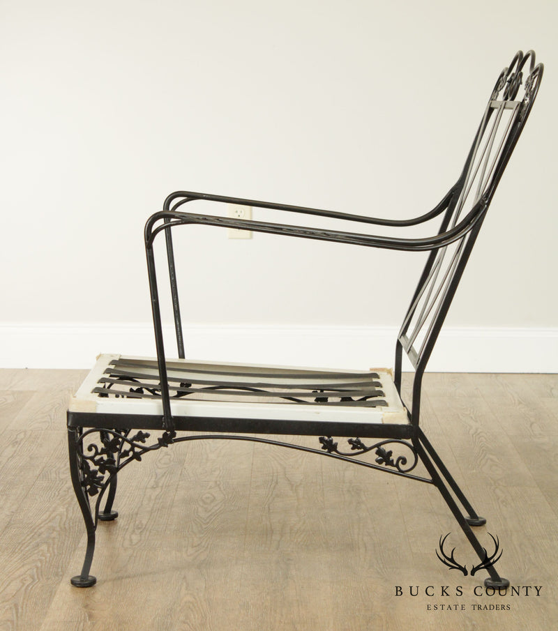 Woodard Vintage Wrought Iron Lounge Chair