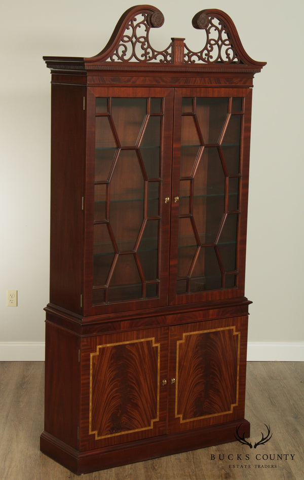 Councill Craftsmen Federal Style Tall Flame Mahogany China Cabinet
