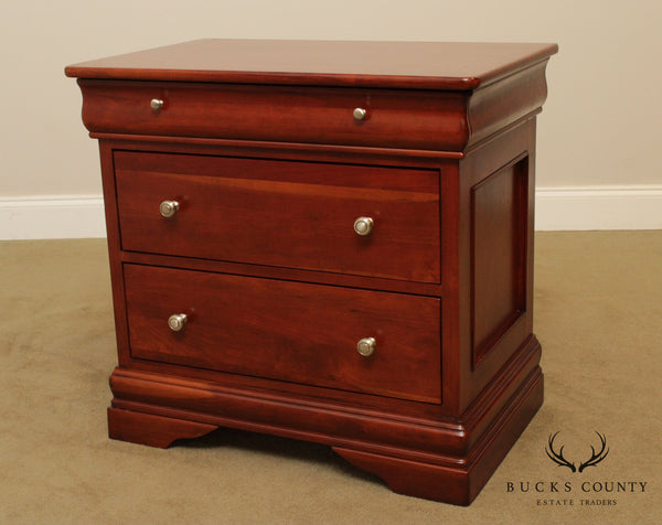 Tradewins Solid Cherry 3 Drawer Nightstand Bed Side Chest