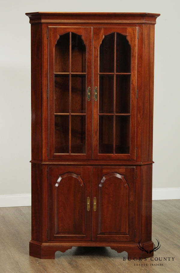Knob Creek Solid Cherry Traditional Corner Cabinet