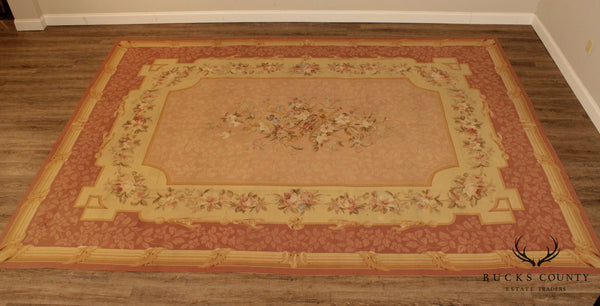 Fine Quality French Aubusson Carpet 9' 6 inch x 13' 3 inch Rug
