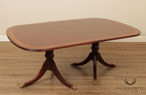 Ethan Allen 18th Century Mahogany Banded Dining Table