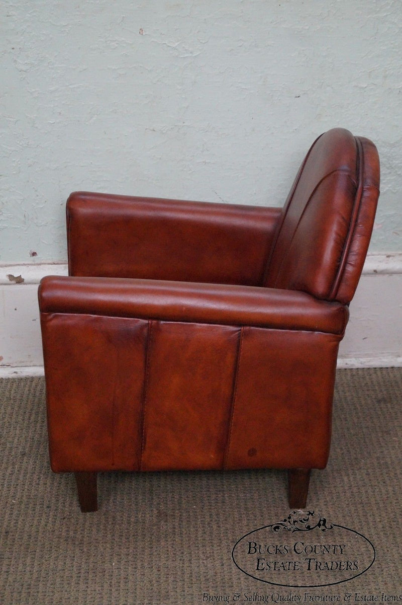 Quality French Art Deco Style Child's Leather Club Chair