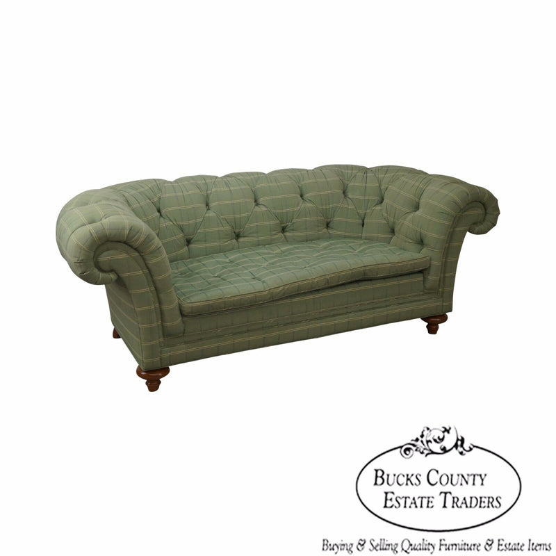 Baker Furniture Company Tufted Channel Back Sofa