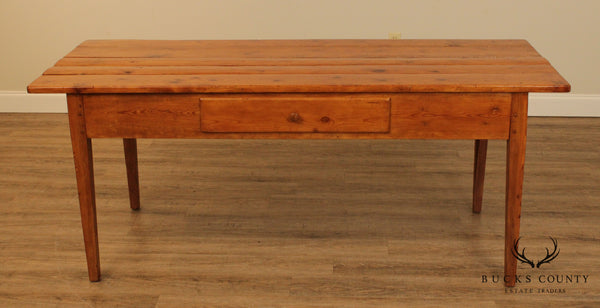 Antique 19th Century French Pine Farmhouse Table