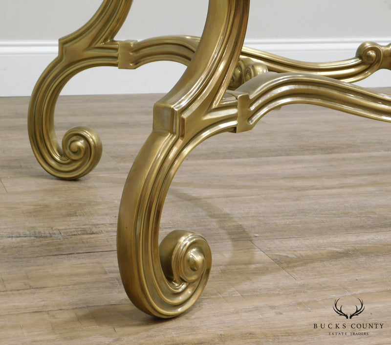 French Louis XV Style Quality Brass Coffee Table Base