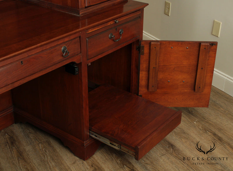 Lexington Bob Timberlake Cherry Desk Crdenza with Bookcase Hutch Top