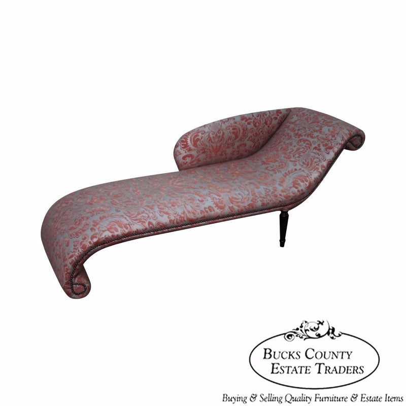 Unusual Custom Regency Directoire Style Chaise Lounge