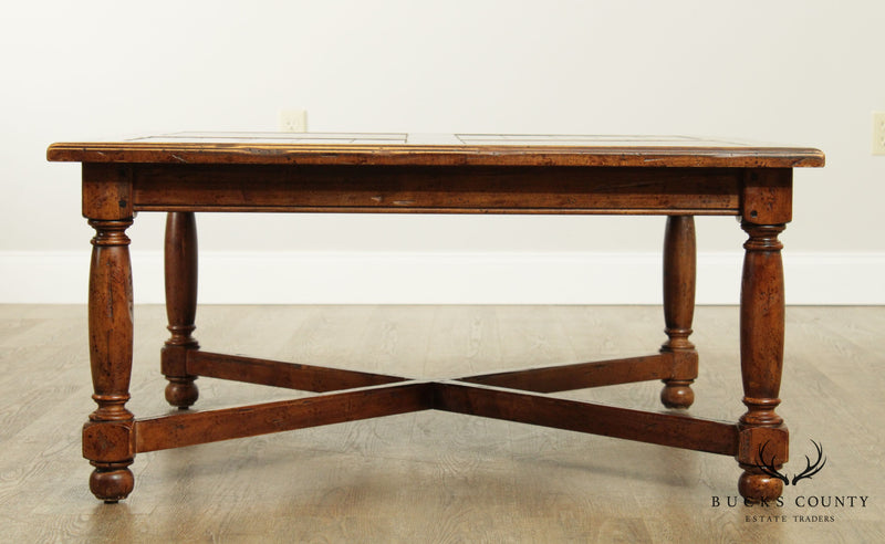 Ethan Allen Old World Treasures Square Coffee Table