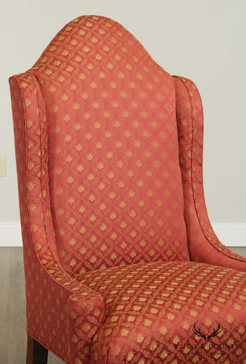 William & Mary Style Quality Pair Host, Wing Chairs