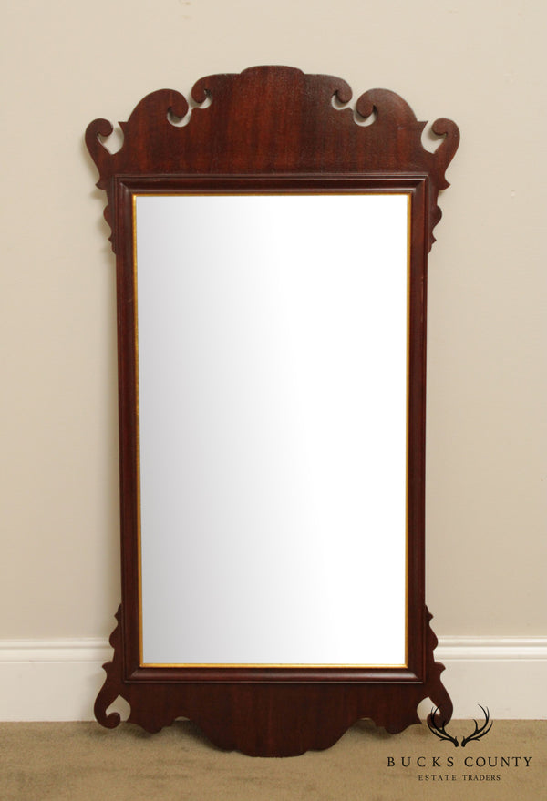 Friedman Brothers Mahogany Chippendale Style Beveled Mirror
