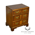 Baker George III Gold Style Yew Wood Small Accent Chest of Drawers