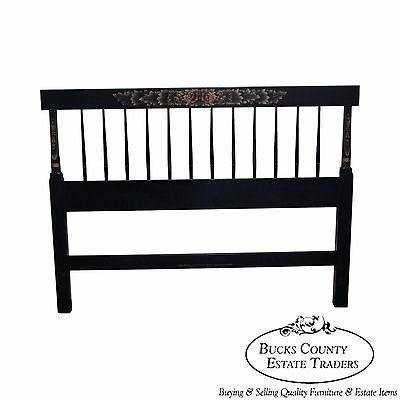 Astounding Hitchcock Black Painted Stenciled Full Size Headboard Ocoug Best Dining Table And Chair Ideas Images Ocougorg