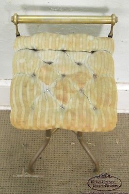 Antique Brass Adjustable Vanity Stool