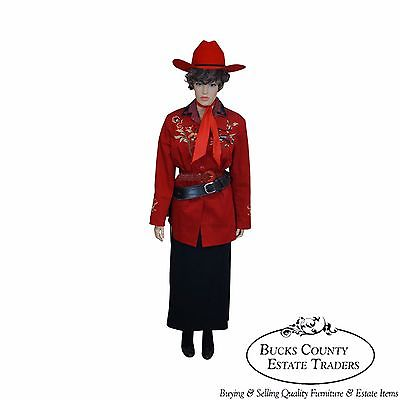 Annie Oakley Life Size Large Dressed Mannequin w/ Replica Pistol, Holster