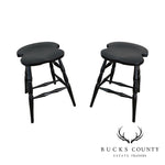 Martins Chair Inc. Backless Pair Black Counter Stools