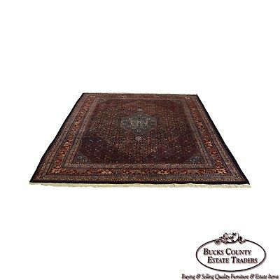 Farahan Sarook Blue 9x11 Hand Knotted Persian Oriental Room Size Rug Carpet