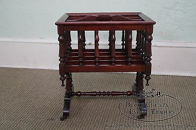 Quaint American Carl Forslund Vintage Solid Cherry Magazine Stand Canterbury