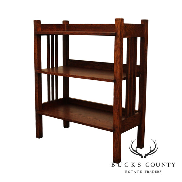 Stickley Brothers Antique Mission Oak Magazine Stand, Bookcase