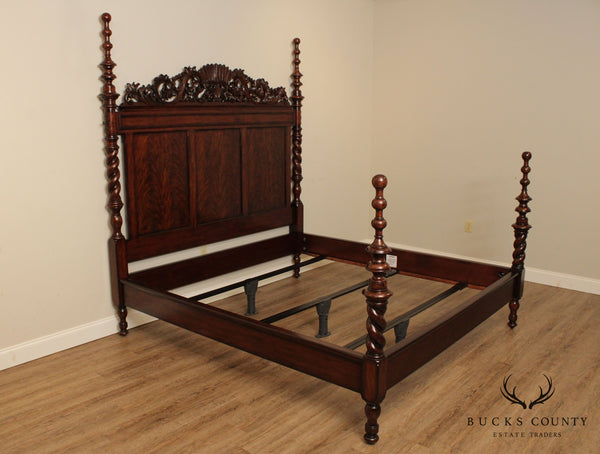 Thomasville Ernest Hemingway Collection Carved Mahogany King Poster Bed