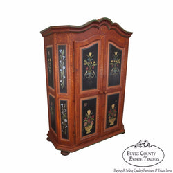 Hand Painted French Style Armoire Cabinet