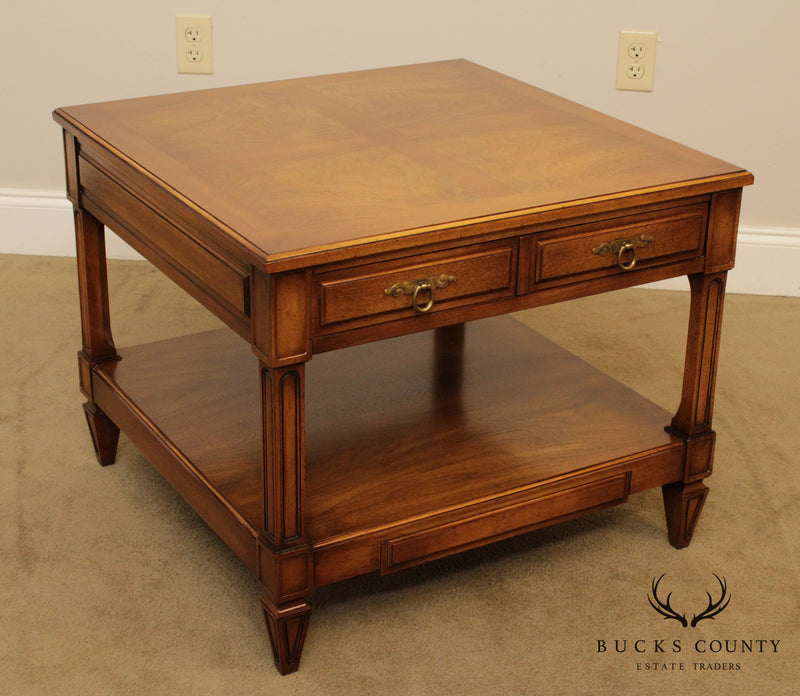 Widdicomb Vintage French Regency Style Square Walnut Side Table