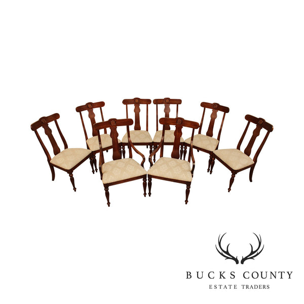 Ethan Allen British Classics Set 8 Dining Chairs