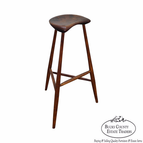 Wharton Esherick Rare Signed Walnut & Oak Stool