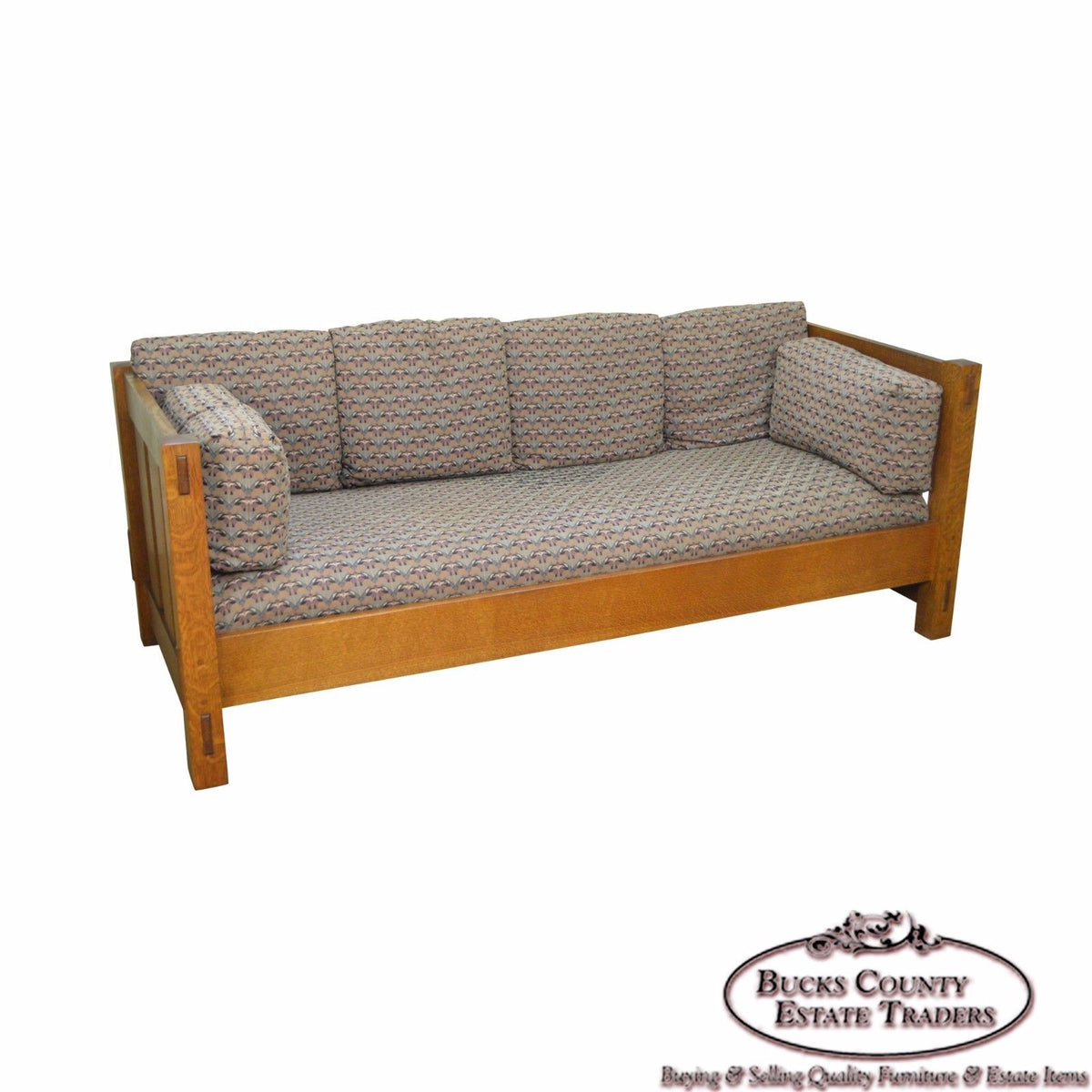 Stickley Mission Oak Collection Settle Sofa Bucks County
