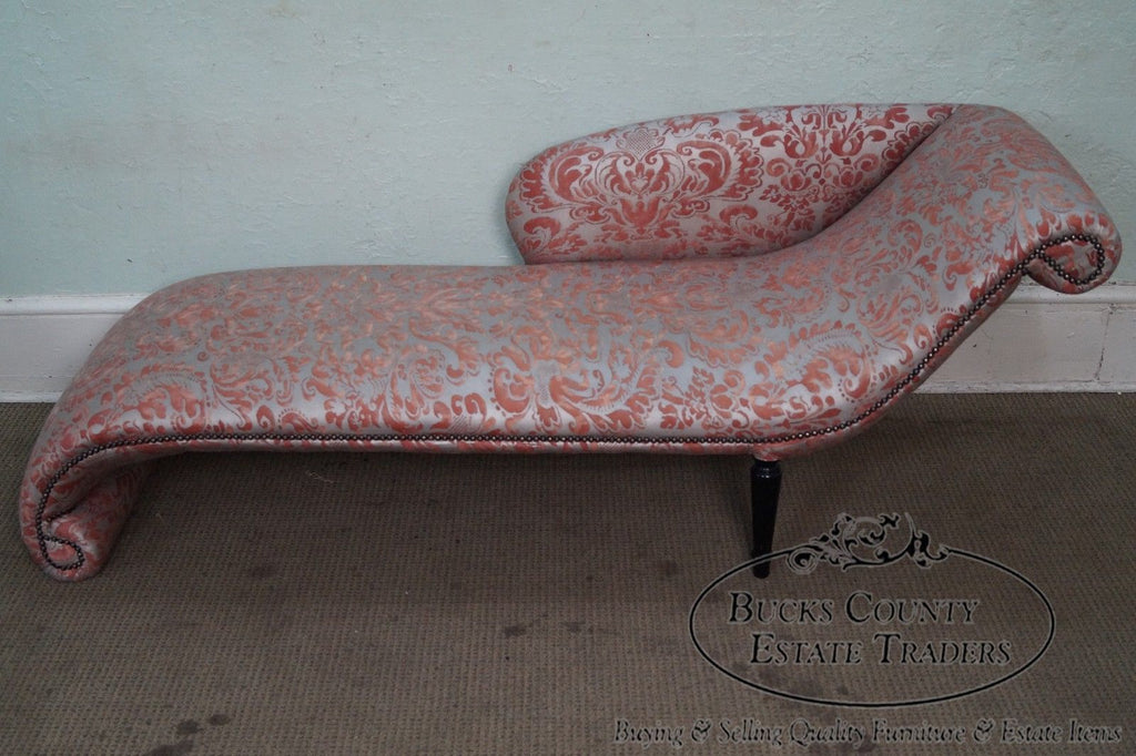 Awesome Unusual Custom Regency Directoire Style Chaise Lounge Theyellowbook Wood Chair Design Ideas Theyellowbookinfo