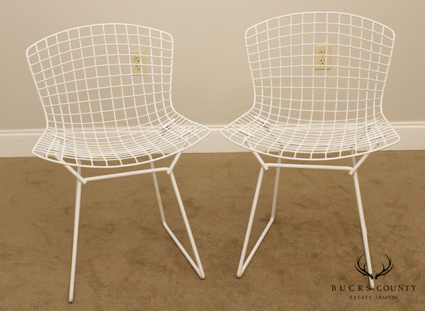 Knoll Pair Bertoia Mid Century Modern Wire Side Chairs