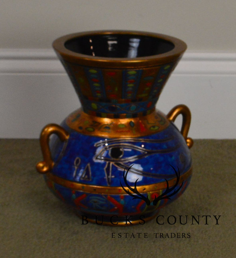Egyptian Style Modern Pottery Colorful Vase
