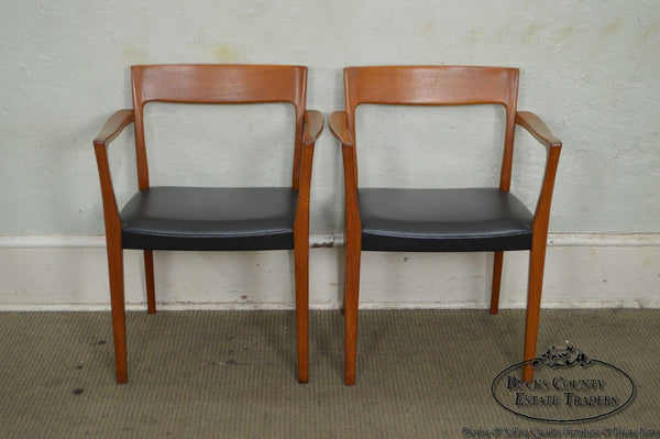 Danish Modern Pair of Teak Arm Chairs by Svegards Markaryd