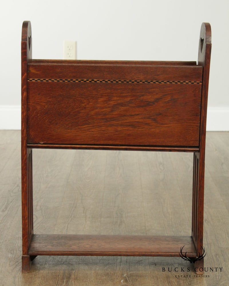 Antique Arts and Crafts Magazine Stand
