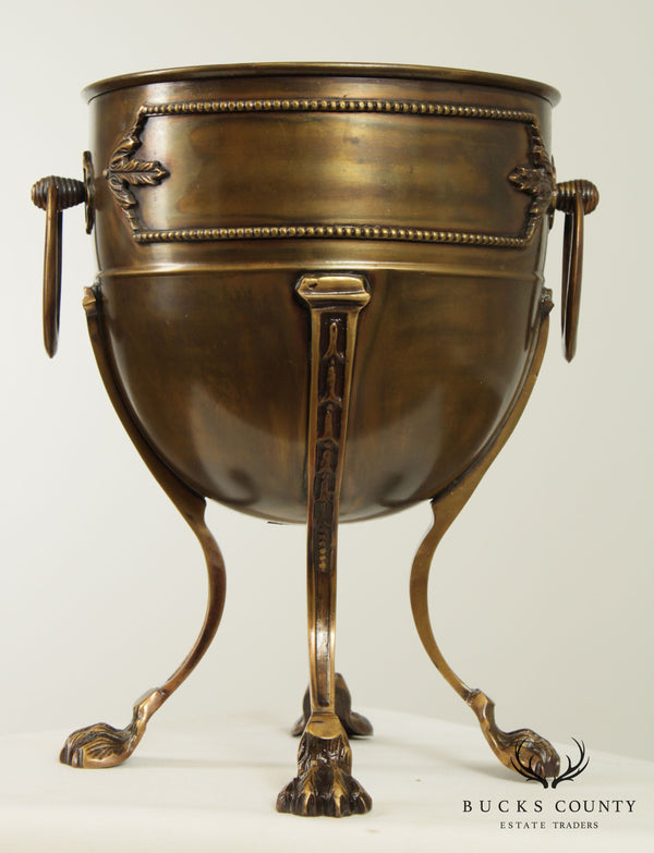 Decorative Crafts Empire Style Bronze Claw Foot Champaign Bucket