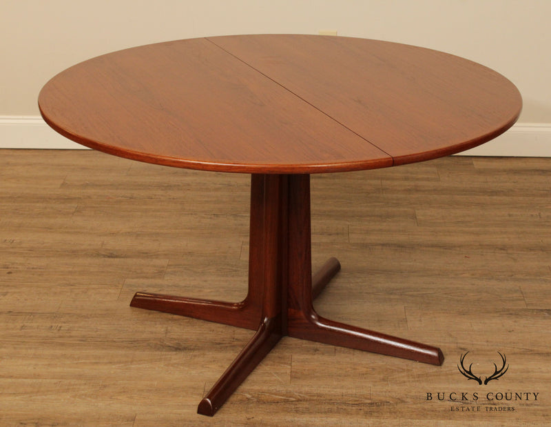 Niels Koefoed Danish Modern Teak 48 inch Round Dining Table