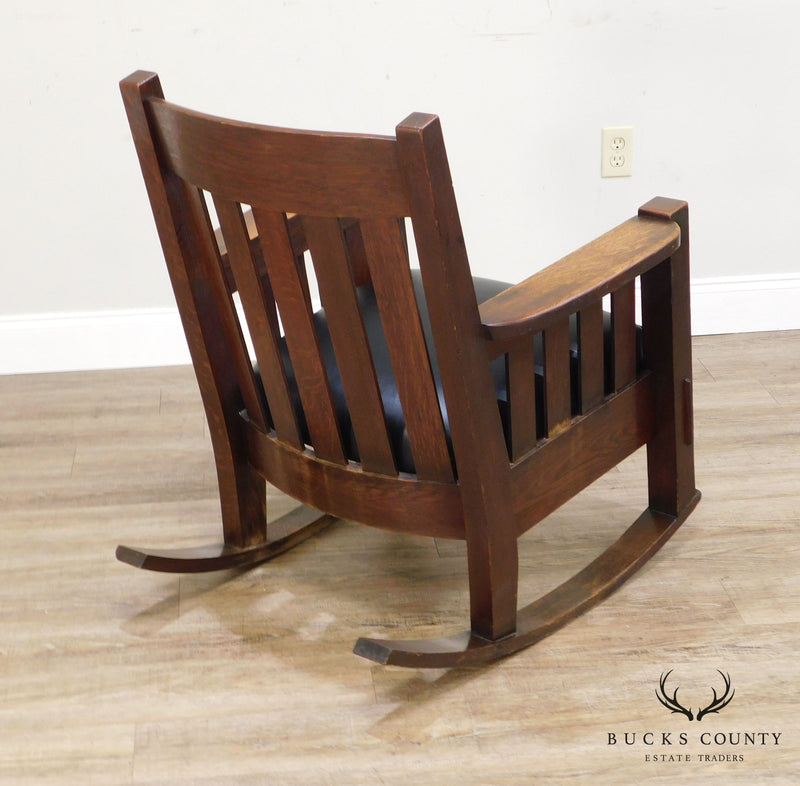 Harden Furniture Co. Antique Mission Oak Rocker