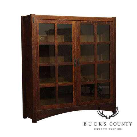 Life Time Antique Mission Oak 2 Door Bookcase