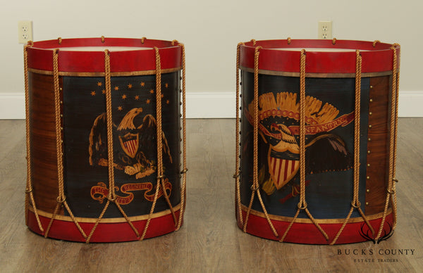 Hand Crafted Pair Civil War Reproduction Infantry Drums