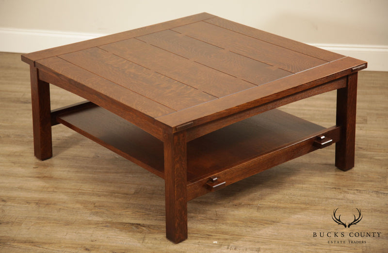 Stickley Mission Collection oak Butterfly Top Coctail Coffee Table