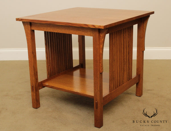 Stickley Mission Collection Square Oak Spindle Lamp Table