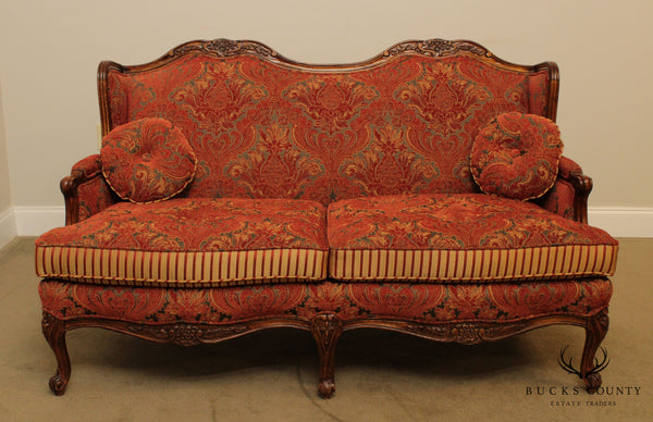 French Louis XV Style Custom Upholstered Loveseat