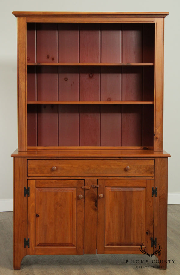 Carrier Furniture Solid Pine Wood Hutch Cabinet