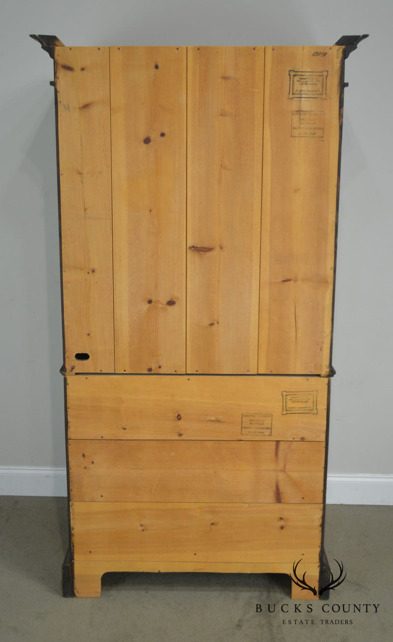 William Draper Country Classics Hand Crafted Pine Linen Press Armoire