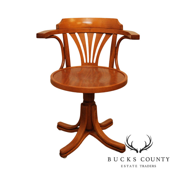 Quality Bentwood Purser's Swivel Desk Chair
