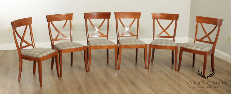 Restoration Hardware Set 6 Italian X Back Dining Chairs