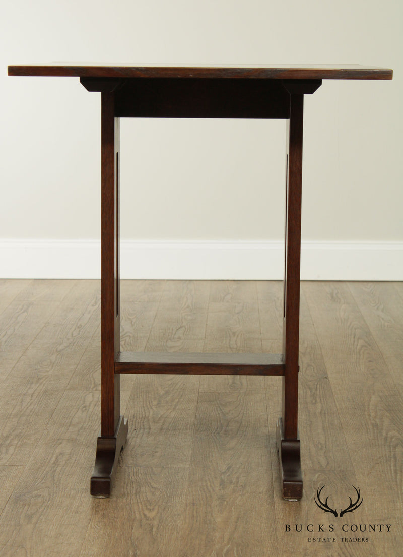 "Stickley Mission Collection Oak 24"" Square Top Side Table"