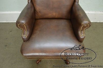 Quality Brown Leather High Back Executive Office Chair (B)